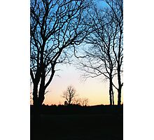 Crescent Moon at Sunset Photographic Print
