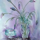 Lavender and black lace  by Karin Zeller