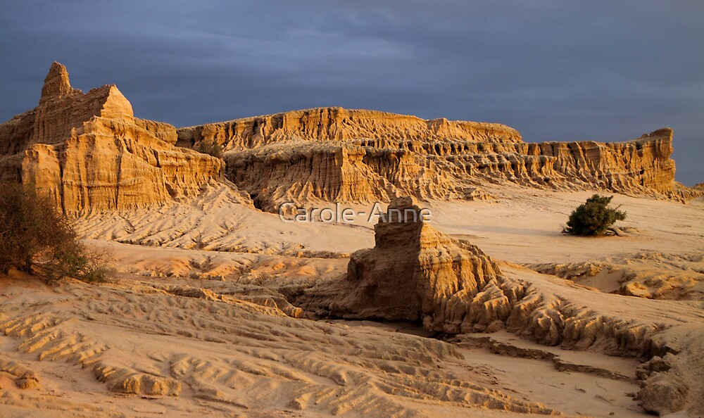 Pinnacles at Sunset, Mungo National Park by Carole-Anne