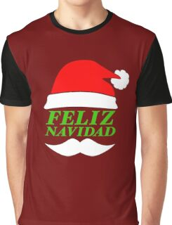 Feliz Navidad Santa Graphic T-Shirt