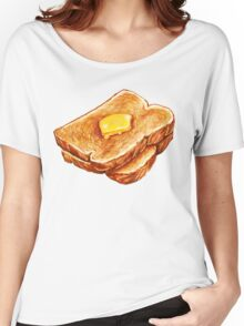 Buttered Toast Pattern Women's Relaxed Fit T-Shirt