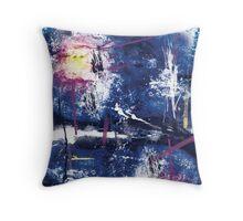 Grunge Nebula Throw Pillow