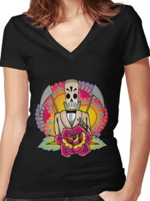 Buenos días Women's Fitted V-Neck T-Shirt