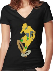 The World! Women's Fitted V-Neck T-Shirt