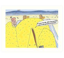 Caricature de la vengeance de Big Bird Art Print