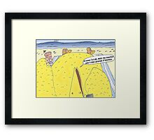 Caricature de la vengeance de Big Bird Framed Print