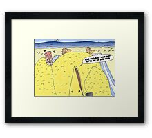 The Big Bird Revenge editorial cartoon Framed Print