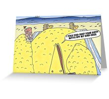 The Big Bird Revenge editorial cartoon Greeting Card
