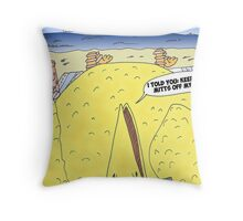 The Big Bird Revenge editorial cartoon Throw Pillow