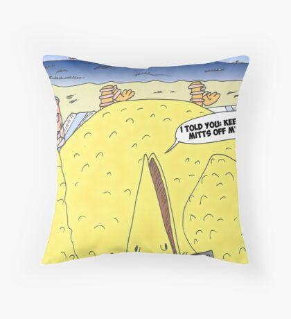 The Big Bird Revenge editorial cartoon Throw Pillow