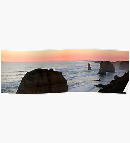 Twelve Apostles - Great Ocean Road VIC (panorama) Poster