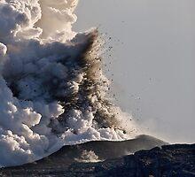 iPad Case. Kilauea Volcano at Kalapana 3. by Alex Preiss