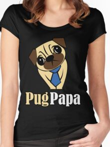 Pug Papa Women's Fitted Scoop T-Shirt