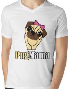 Pug Mama Mens V-Neck T-Shirt