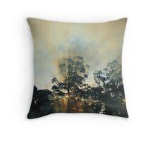 Montagu bush fire , far nor west coast Tasmania , Australia Throw Pillow