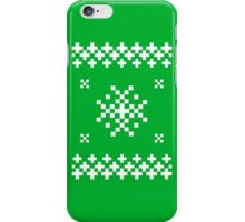 Ugly Christmas Sweater (White) iPhone Case/Skin