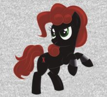 Black Widow Pony One Piece - Long Sleeve