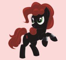 Black Widow Pony One Piece - Short Sleeve