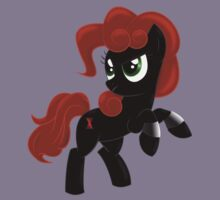Black Widow Pony Kids Tee