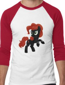Black Widow Pony Men's Baseball ¾ T-Shirt