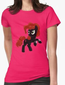 Black Widow Pony Womens Fitted T-Shirt