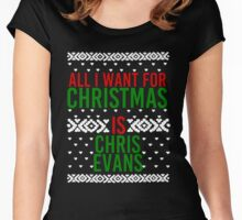 All I Want For Christmas (Chris Evans) Women's Fitted Scoop T-Shirt