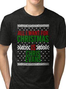 All I Want For Christmas (Chris Evans) Tri-blend T-Shirt