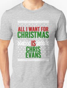 All I Want For Christmas (Chris Evans) Unisex T-Shirt