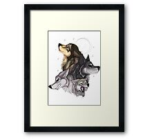 wolfpack - natural colors  Framed Print