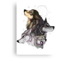 wolfpack - natural colors  Canvas Print