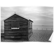 Beach hut at Kingsdown Poster