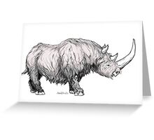 Woolly Rhino Greeting Card