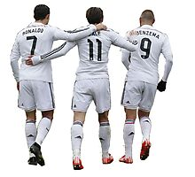 cristiano ronaldo and bale and benzema Photographic Print