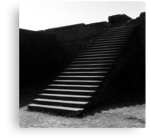1995 - nalanda, the steps to the library Canvas Print