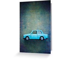 Old Toy Car Greeting Card