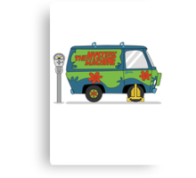 Mystery Machine Wheel Clamp  Canvas Print