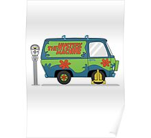 Mystery Machine Wheel Clamp  Poster