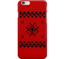 Ugly Christmas Sweater (Black) iPhone Case/Skin