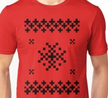 Ugly Christmas Sweater (Black) Unisex T-Shirt