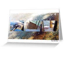 Water & Rust Greeting Card