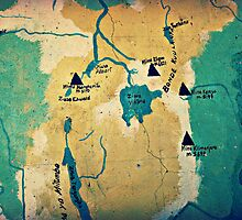 Where Are We? ( Mt. Kilimanjaro Wall Map ) by emiliewho