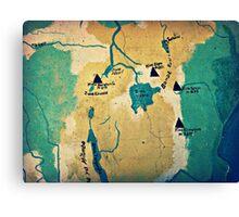 Where Are We? ( Mt. Kilimanjaro Wall Map ) Canvas Print