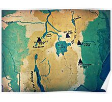 Where Are We? ( Mt. Kilimanjaro Wall Map ) Poster