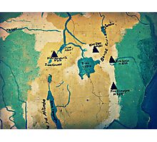Where Are We? ( Mt. Kilimanjaro Wall Map ) Photographic Print