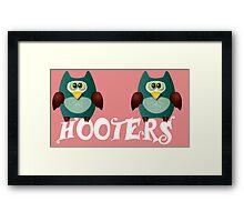 Hooters cute owls Framed Print