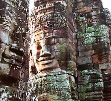 Three Faces, Bayon Temple, Cambodia by Hannah Nicholas