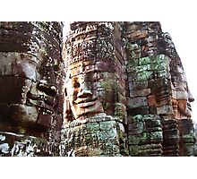 Three Faces, Bayon Temple, Cambodia Photographic Print
