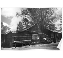 Wool Shearing Shed Poster