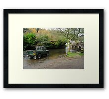 Landrover and the Ford  Framed Print