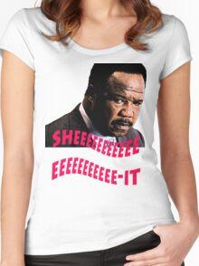 """Clay Davis """"sheeeeee-it"""" Women's Fitted Scoop T-Shirt"""